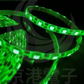 5050 LED 白底防水燈條 24V 綠色 5M (300燈)