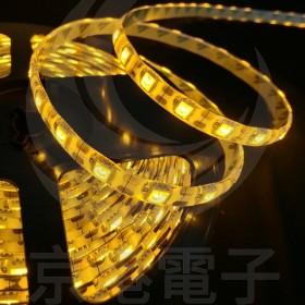 5050 LED 白底防水燈條 24V 黃色 5M (300燈)