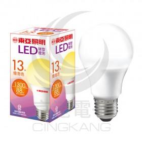 東亞 LED球型燈泡 13W 燈泡色 LLA015A-13AAL