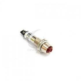 LED指示燈金屬外殼紅色 8mm 12V