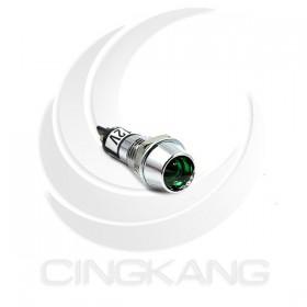 井型銅指示燈12V-綠色 牙8mm36mm總長 (LED)