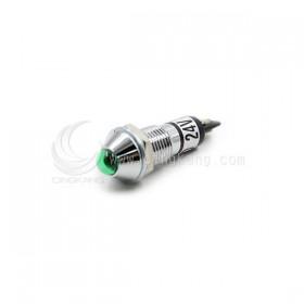 3217-1F-G LED 24V指示燈-銅殼尖型 8MM 綠色