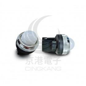 25ψ圓形指示燈-白色 110V氖氦燈泡 傳統型