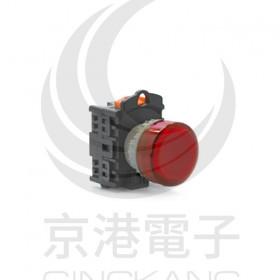 25ψ圓形指示燈-黃色 110V氖氦燈泡 傳統型