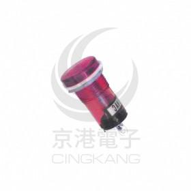 大扁型霓虹燈-紅 12V 牙15mm