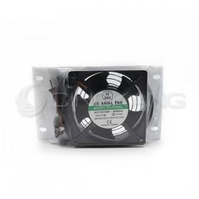 4吋 AC110V 單聯膠框膠葉油封軸承風扇組 -安檢品