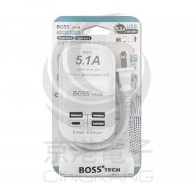 BOSS UB-22U 5.1A USB智慧型充電器 50CM