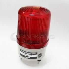 TWL-10L9R 100mm 12V紅色旋轉型LED警示燈(接線型無蜂鳴器)