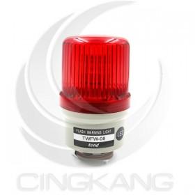 TWFW-08L9R 80mm 12V紅色閃光型LED警示燈(出線型無蜂鳴器)