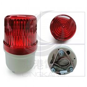 80mm 閃光間歇蜂鳴紅 LED DC12V 出線式