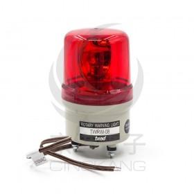 TWRW-081R 80mm 110V紅色旋轉型警示燈(出線型無蜂鳴器)
