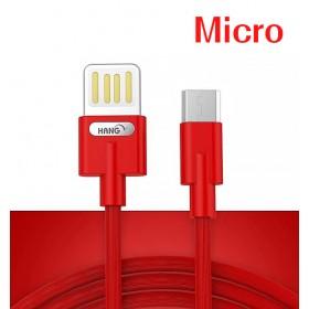 HANG R36 Micro 雙面插快充線-紅
