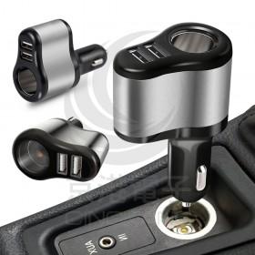 HANG H314 點煙器+雙USB輸出車充2.1A
