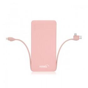 HANG X25 帶線 三合一規格行動電源13K 粉色