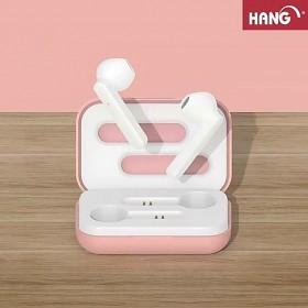 HANG W52雙耳真無線藍芽耳機-粉紅