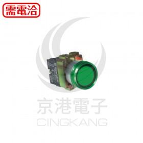22ψ平頭照光按鈕-綠色 AC110V 2A2B