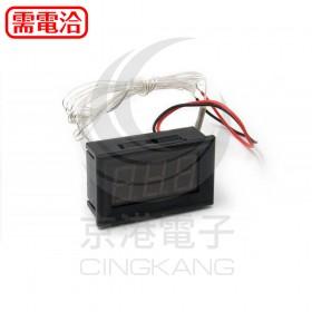 0.56三位元LED數位溫度電壓錶頭(PT100)-黑殼紅光