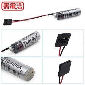 TOSHIBA PLC 鋰電池 ER6V /3.6V 含電阻(一次性) 帶4號接頭