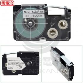 CASIO 卡西歐】標籤機專用色帶-9mm透明底黑字(XR-9X1)