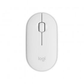 羅技Logitech 鵝卵石無線滑鼠 珍珠白