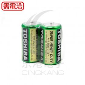 東芝TOSHIBA 環保碳鋅電池2號(2入)