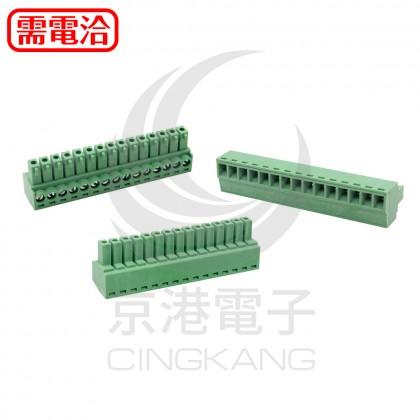 PCB 3.5-15P 端子台(母)  (2入)